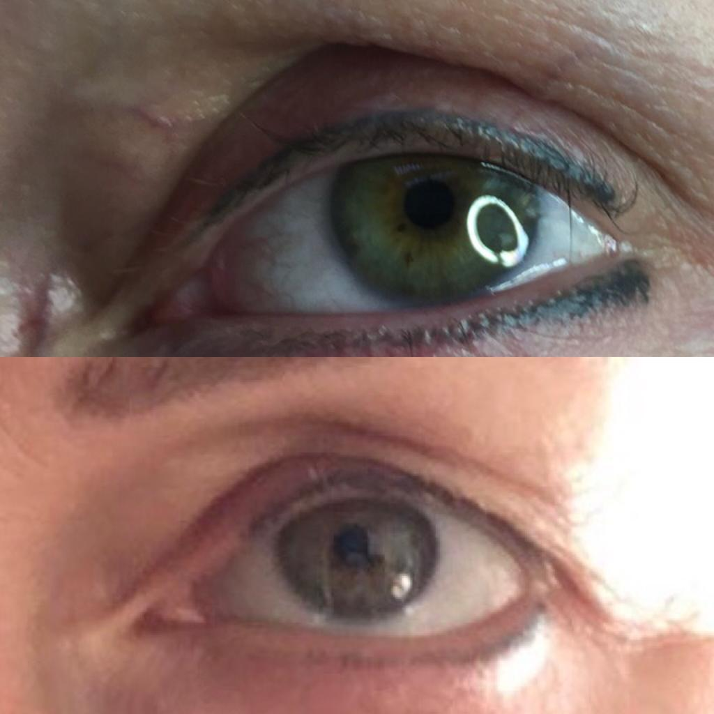 2 Sessions reduced the bottom eyeliner